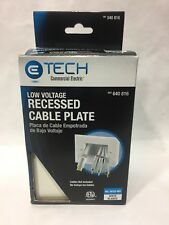 NIB Etech Commercial Electric Low Voltage Recessed Cable Plate Flat Panel TV NEW