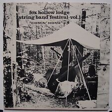 "FOX HOLLOW LODGE STRING BAND FESTIVAL folk ""COMIN HOME"" RARE vinyl LP biograph"