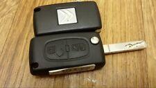 CITROEN C1 C2 C3 C4 Etc Alarma Control Remoto 2 Botón Voltear Llavero 433 Mhz-En muy buena condición