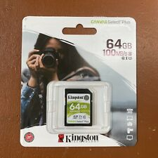 NEW Kingston 64GB SD Card UHS-1 Class 10 High Speed 100 MBs