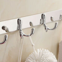 Stainless Steel Wall Mounted Double-Hook Coat Clothes Hat Organizer Rack Trendy