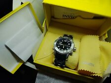 New Men's Invicta sea spider Swiss Chronograph Black polymer  Watch  model 5392