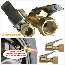 2 X Golden Color Brass Car Truck 1/4'' NPT Tyre Female Thread Inflater Air Chuck