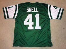 UNSIGNED CUSTOM Sewn Stitched Matt Snell Green Jersey - M 43b7a29ca