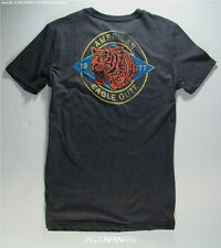 American Eagle Mens Charcoal Tiger Back Graphic T Shirt LARGE TALL NWT