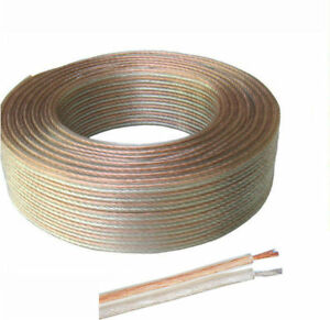10m 2x 0.5mm Loud Speaker Cable/Wire for Home or Car Audio UK