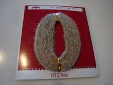 New ! 9-Ft Burlap Garland Holiday time Christmas Decoration
