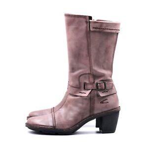 CAMEL ACTIVE Damen Stiefel Boots Stiefeletten EUR 39 UK 6 Braun Echt Leder