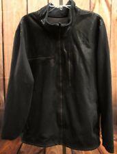 The North Face Mens Black Zip Front Fleece Lined Track Hiking Jacket Coat Sz XL