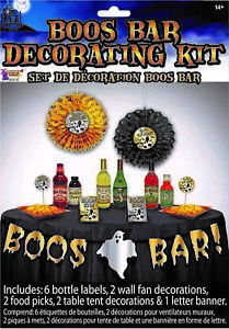 Boos Bar Adult Halloween Party Fun Decorating Kit