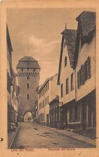 Germany postcard Linz am Rhein Neustrasse und Neutor street scene
