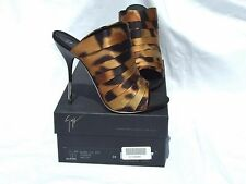 Giuseppe Zanotti Animal Ruched Satin High Heel Mules Shoes Slides EUR 39 $695