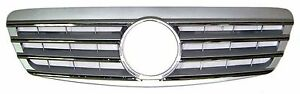 Front Grille Mercedes Benz S Class W220 Chrome & Silver 1998-2001 S600 S500 S320
