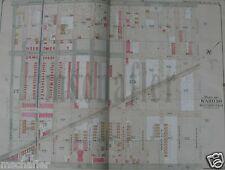 ORIG 1905 BROOKLYN NEW YORK NY MAP ATLAS E. BELCHER HYDE BENSONHURST Plate 18