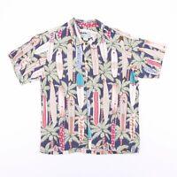 Vintage REYN SPOON Made In Hawaii Surf Board Hawaiian Shirt Men's Size XL