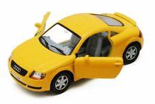 "Brand New 5"" Kinsmart Audi TT Coupe Diecast Model Toy Car 1:32 Yellow"