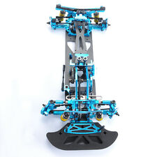 Blue alloy & carbon fiber drift frame RC 1/10 G4 4WD Drift Racing Car Frame Kit