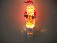 """Avon Santa Clause Shimmering Night Light Glitter Stick 7.75"""" Tall"""