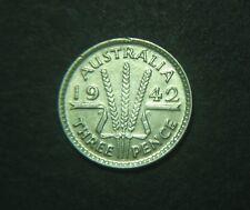 1942 M Australian Threepence, Melbourne mint