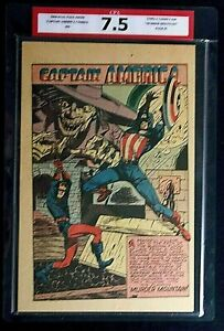 """Captain America Comics #54 CPA 7.5 SINGLE PAGE #1 """"Murder Mountain"""" Timely"""