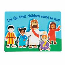 Jesus & The Children Magnet Craft Kit - Cr 00000527 aft Kits - 12 Pieces