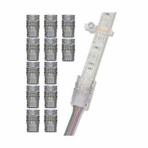GRIVER 4 Pin LED Connector for Waterproof 5050 LED Strip Light- Strip to Wire...