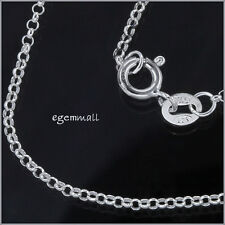 """Italian Sterling Silver Rolo Chain Necklace 1.5mm 18"""" #51705"""
