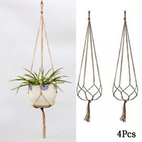Modern Pot Garden Holder Plant Hanger Flower Legs Hanging Macrame Rope Basket