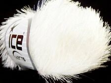 Optical White Eyelash Yarn Ice Bright White Fun Fur 22744 50 gram