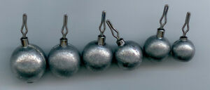 50 of 1/4 oz lead round drop shot weights ( BALL STYLE )