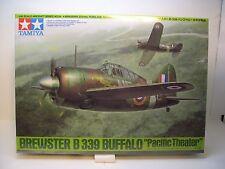 WWII BREWSTER B-339 BUFFALO TAMIYA 1:48 SCALE PLASTIC MODEL AIRPLANE KIT