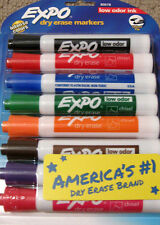 NIB! Expo 8 Colored Dry Erase Markers - Low Odor Chisel Tip 80678