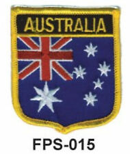 2-1/2'' X 2-3/4  AUSTRALIA Flag Embroidered Shield Patch - officially Licensed