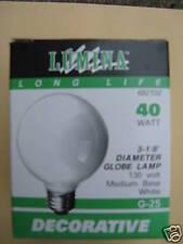 """LUMINA LONG LIFE  3 1/8"""" GLOBE LAMP BULB G-25"""