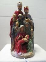 "BEAUTIFUL LIGHTED CERAMIC NATIVITY 11"" TALL BULB INCLUDED TESTED/WORKS GREAT"