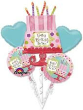 Sweet Party Cupcake Bright Birthday Party Decoration Mylar Balloon Bouquet