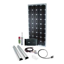 Solar Panel Charging Kit 100W/12V mono, Steca Regulator 15A for RV's, boats