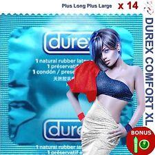 ❤ DUREX XL EXTRA LARGE ❤ Lot de 14 préservatifs+ larges + longs + 1 capote GLOW