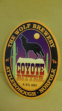 The Wolf Coyote Biter Ale Beer Pump Clip face Bar Pub Collectible