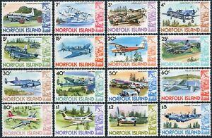 Norfolk 256-270,MNH.Michel 239-254. Airplanes 1980-1981.Bird.
