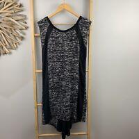 Decjuba Size M Black Fine Knit Dress Cap Sleeve