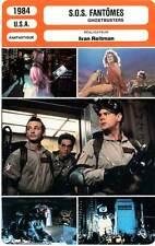 FICHE CINEMA : SOS FANTOMES - Murray,Aykroyd,Weaver,Reitman 1984 Ghostbusters