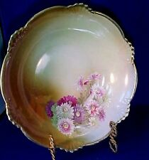 "Vintage Colorful  9"" BAVARIAN DASIES  BOWL JACOB HERTEL Rehau Germany VGC"