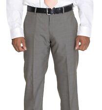Dkny Slim Fit Solid Hellbraun 100% Wolle Flach Vorne Kleid Hose 29W