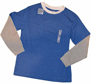Boy's Old Navy Blue & Gray Two-Tone Long Sleeve Top Sizes XS (5), M (8)