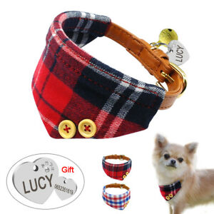 Cotton Leather Personalized Bandana Dog Collar Small Dog Neck Scarf Neckerchief