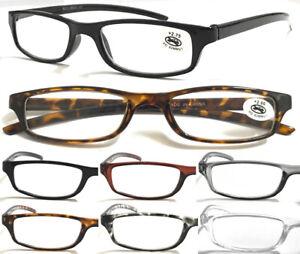 L270 Men's Women's Small Pocket Style Reading Glasses Lightweight Plastic Frame^