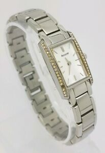 Accurist Diamond Face Ladies Stainless Steel Bracelet Watch LB1386P A1