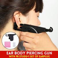 Ear Nose Navel Body Piercing Gun Kit Piercing Tool Set w/ 90x Ear Studs  P □□