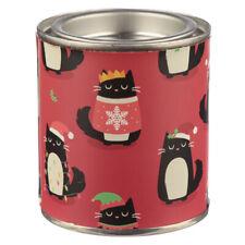 Christmas Cookie Feline Festive Soy Wax Fragranced Candle Tin Xmas Cats